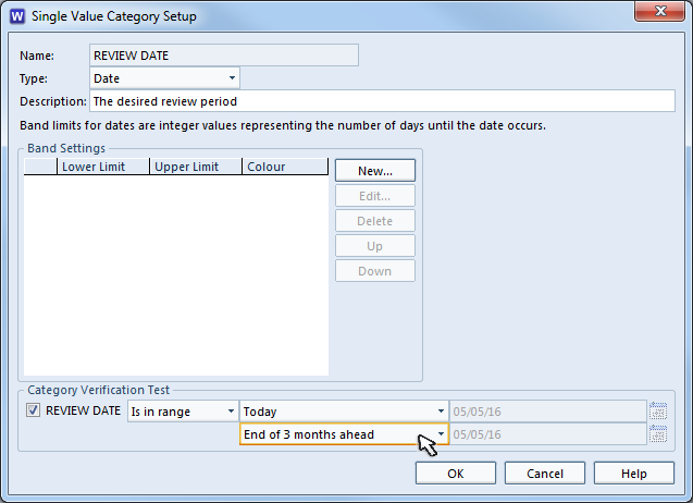 Setup of Category Validation Test