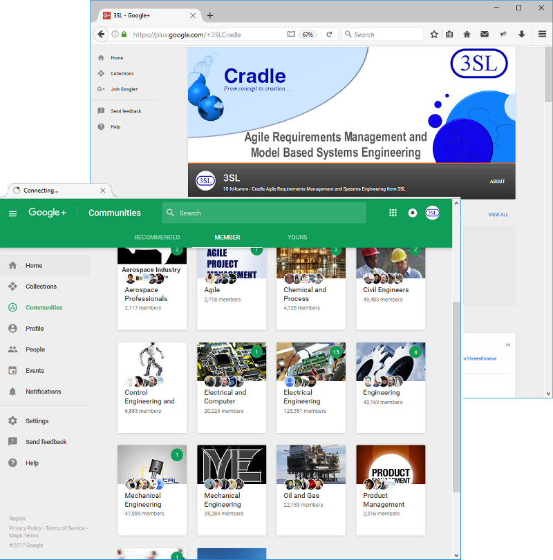 screenshot of plus.google.com/+3SLCradle
