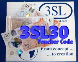 User 3SL30 for a £30 discount see https://www.threesl.com/blog/birthday-voucher-30/ 
