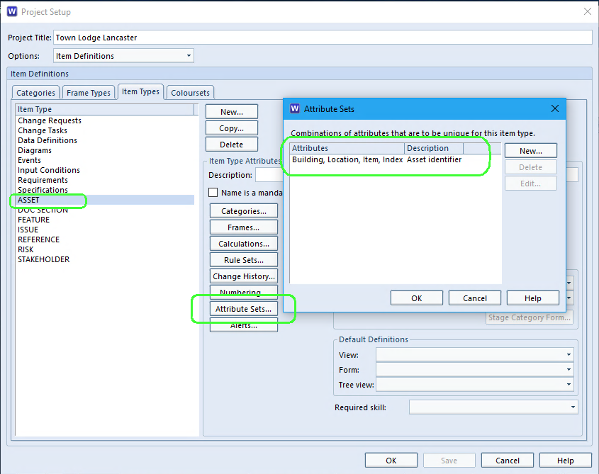 Setting an attribute set in Cradle project schema
