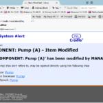 sample email alert in Cradle