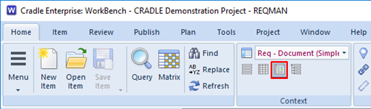 choose document style in the UI in 3SL Cradle RM SE Tool