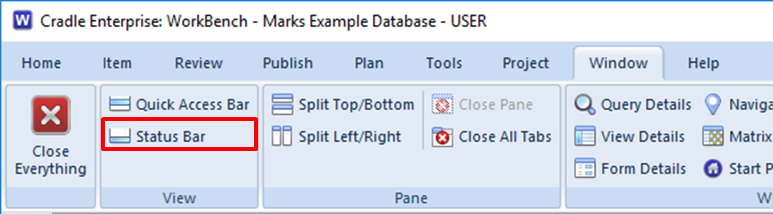 maximised data display area in 3SL Cradle RM SE Tool