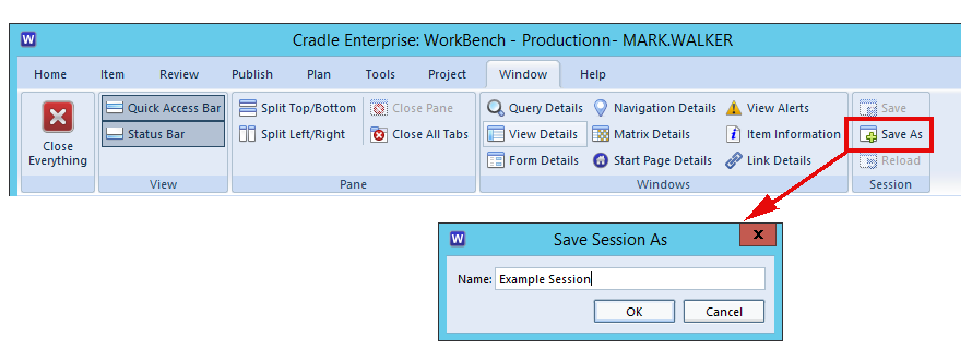 Using Sessions in 3SL Cradle WorkBench