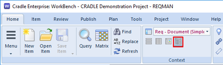 choose tree style in the UI in 3SL Cradle RM SE Tool