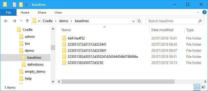The Baseline Folders