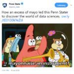 tweet from Penn State University