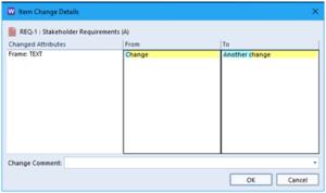 Image showing Change details window