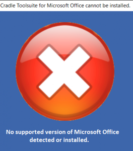 No supported Office version screenshot