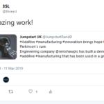 Tweet about @renishawplc from @JumpstartRandD