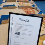 Pizza all round celebrating 3SL gaining ISO9001