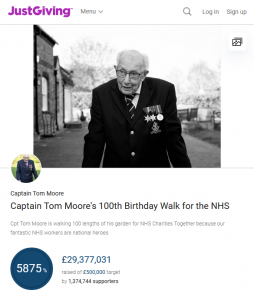 Captain Tom Moore's 100th Birthday Walk for the NHS