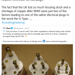 Drax Tweet about UK power plug development