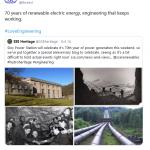 SSE Heritage's Tweet Oct 2020 Sloy Hydro Powerstation Power
