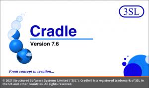 Cradle 7.6 Splash screen