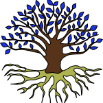 Tree and Roots - Based on image from https://openclipart.org/detail/254965/dont-be-afraid-of-the-dark
