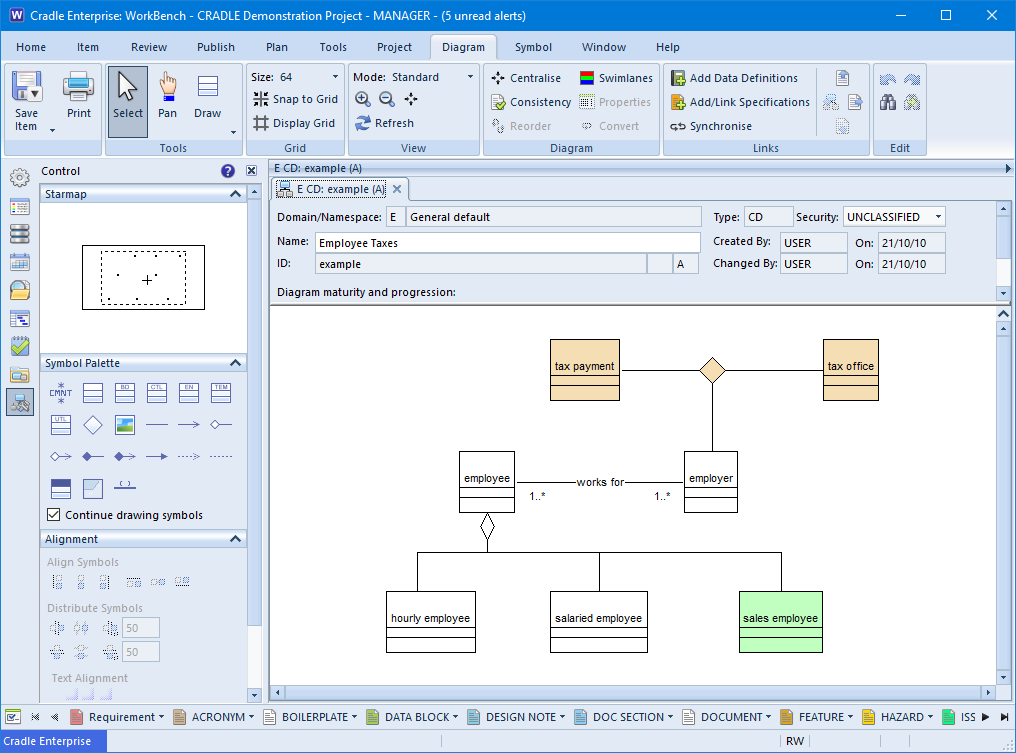 Screenshot of a Class Diagram