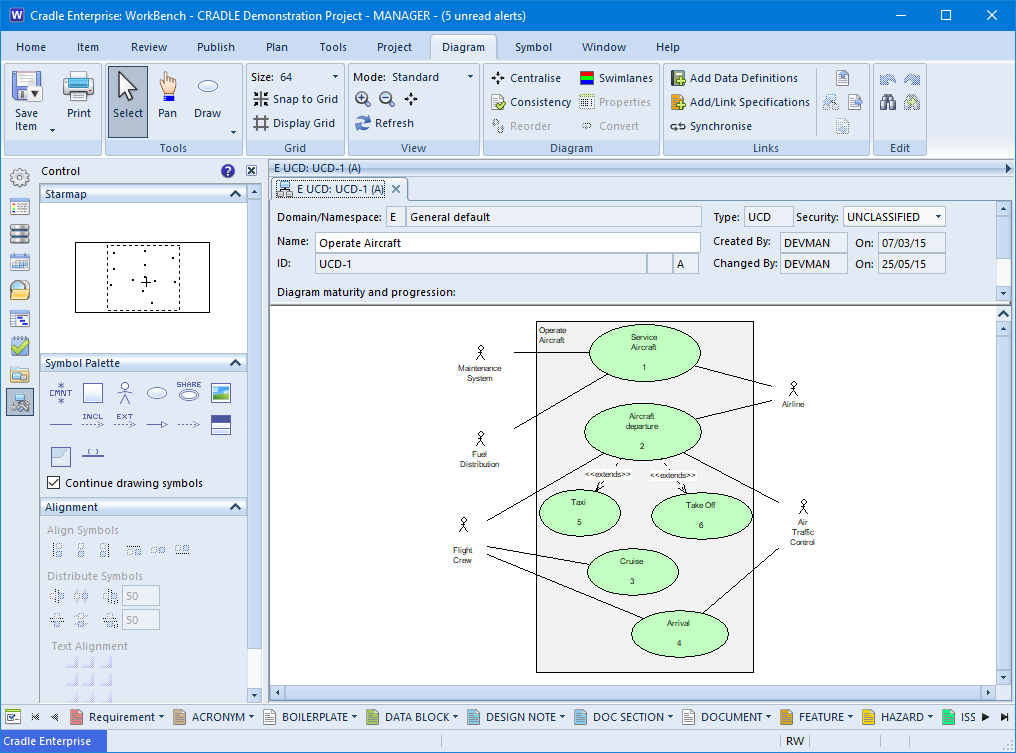 Screenshot of a Use Case Diagram