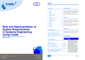System Requirements in Systems Engineering