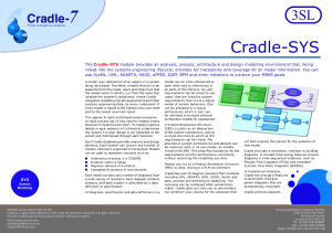 Cradle-SYS Systems Modelling