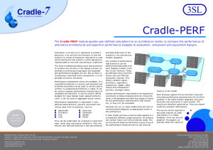 Cradle-PERF Performance Modelling