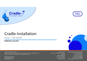 Full Cradle Installation on Unix