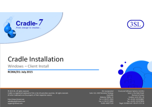 Cradle Client Installation on Unix