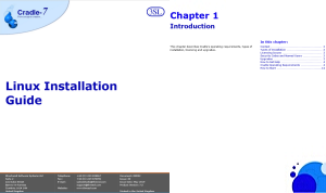 >Installation Guide - Linux